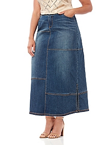 Black Label Entrada Denim Patched Skirt