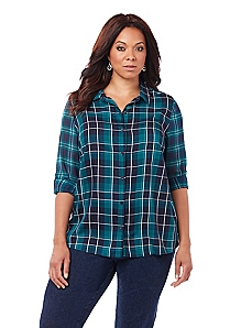 Bainbridge Plaid Blouse