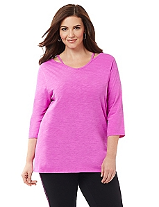 Cutout 3/4-Sleeve Active Tee