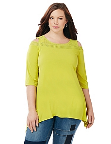 Park Avenue Cold Shoulder Top