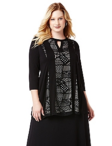 AnyWear Patchwork Panel Tunic