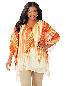 Cascading Ruffle Poncho