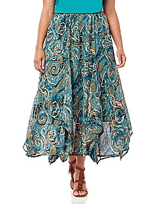 Black Label Nouveau Paisley Skirt