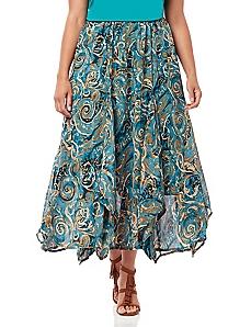 Black Label Nouveau Paisley Skirt