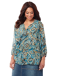 Black Label Nouveau Paisley Top