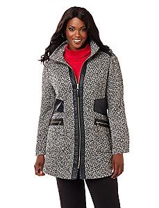 Marled Knit Coat