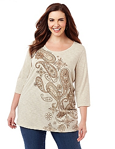 Pop Of Paisley Top