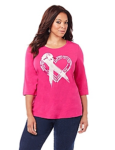 Breast Cancer Awareness Heart Tee