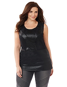 Black Label Peplum Top