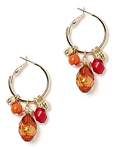 Cornucopia Hoop Earrings