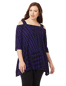 Parkline Cold Shoulder Top