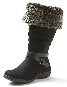 Good Soles Faux Fur Trim Slouch Boot