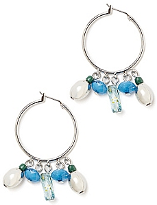 Mirror Shine Hoop Earrings