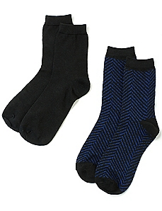 Chevron Stripe 2-Pack Socks