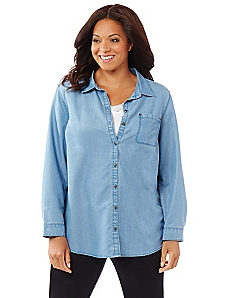 Chambray Buttonfront