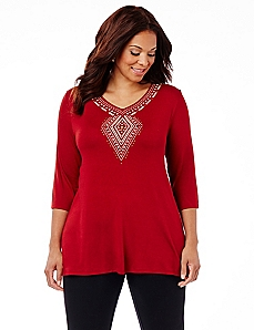 AnyWear Aztec Accent Tunic