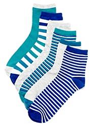 Blue Mix 6-Pack Socks