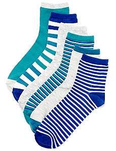 Blue Mix 6-Pack Socks