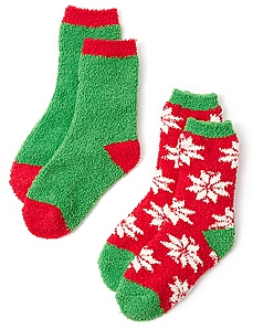 Cozy Poinsettia 2-Pack Socks