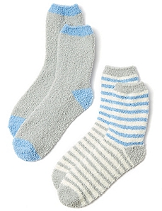 Cozy Blue & Gray 2-Pack Socks
