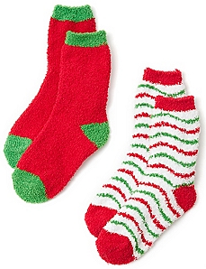 Cozy Candycane 2-Pack Socks