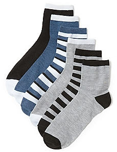 Shades Of Gray 6-Pack Socks