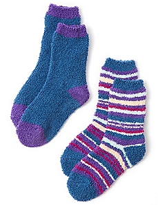 Cozy Stripe 2-Pack Socks