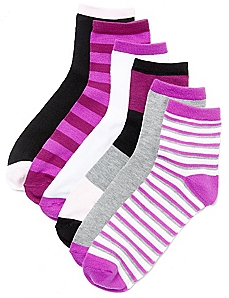 Pop Of Purple 6-Pack Socks