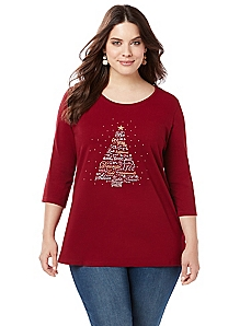 Festive Feelings 3/4 Sleeve Tee