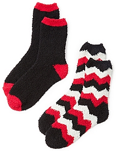 Cozy Zig-Zag 2-Pack Socks
