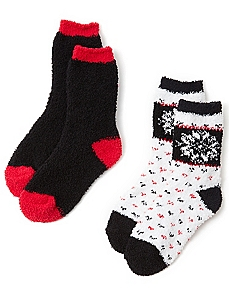 Cozy Snowflake 2-Pack Socks