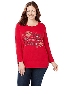 Wonderful Holiday Long Sleeve Graphic Tee