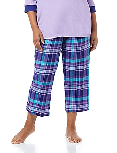 Just Chillin' Flannel Sleep Capri