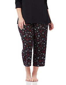 Holiday Wishlist Snowflake Sleep Capri