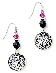 Vibrant Mosaic Glass Earrings