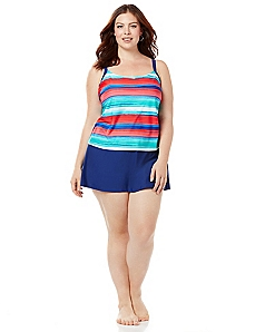 Striped Sensation Swimdress