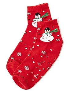 Snowman Slipper Socks