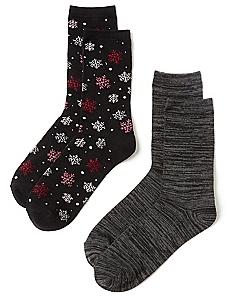 Snowflake 2-Pack Socks