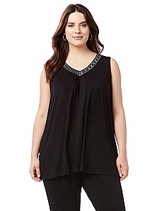 AnyWear Beaded Intrigue Tank