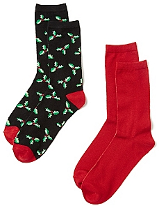 Mistletoe 2-Pack Socks