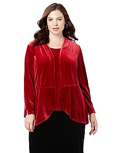Black Label Red Velvet Flounce Jacket