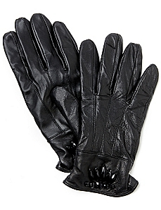 Leather Gemstone Gloves