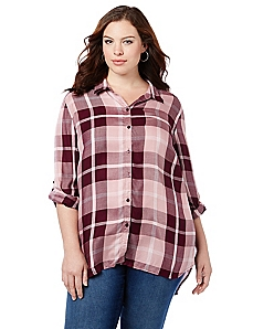 Plaid Tidings Buttonfront