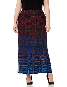 Sleek Stretch Paisley Garden Skirt