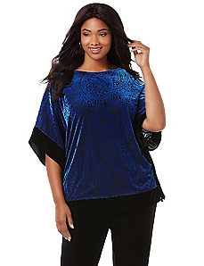 AnyWear Velvet Medallion Poncho