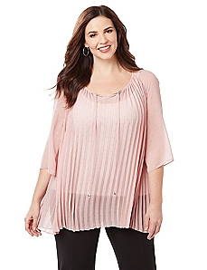 Love Story Pleated Top
