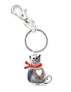 Cozy Cat Keychain