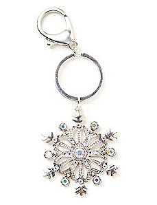 Sparkling Snowflake Keychain
