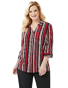 Contrast Stripe Blouse