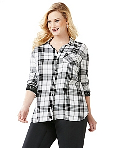 Plaid Romance Buttondown